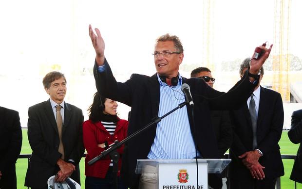jerome valcke Itaquerão Arena Corinthinas Visitas secretario da Fifa ronaldo (Foto: Marcos Ribolli)