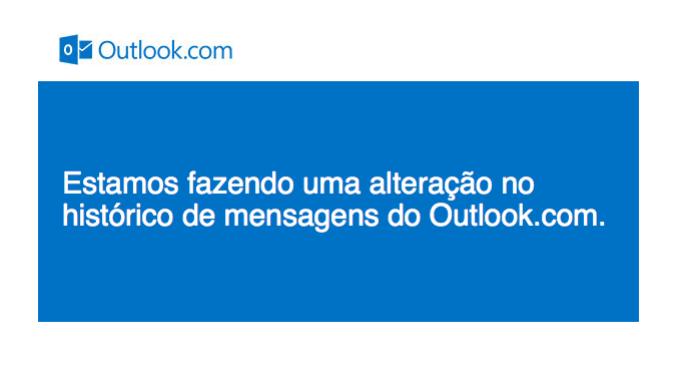 Microsoft envia alerta de que vai apagar histórico de chat do Outlook.com (Foto: Reprodução/Microsoft)