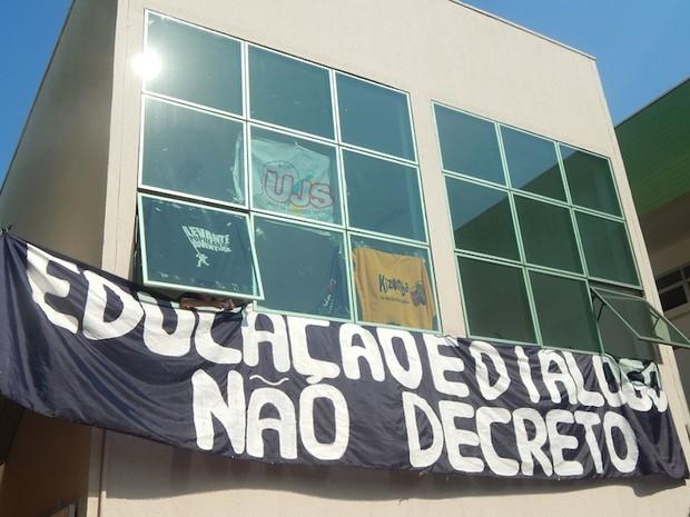 Estudante contam com apoio de movimentos sociais (Foto: Reprodução)