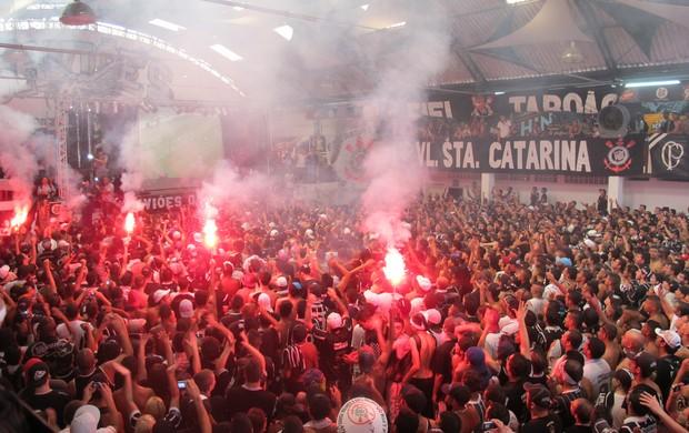 Torcida Corinthians Gaviões da Fiel Mundial Al Ahly (Foto: Daniel Romeu / globoesporte.com)