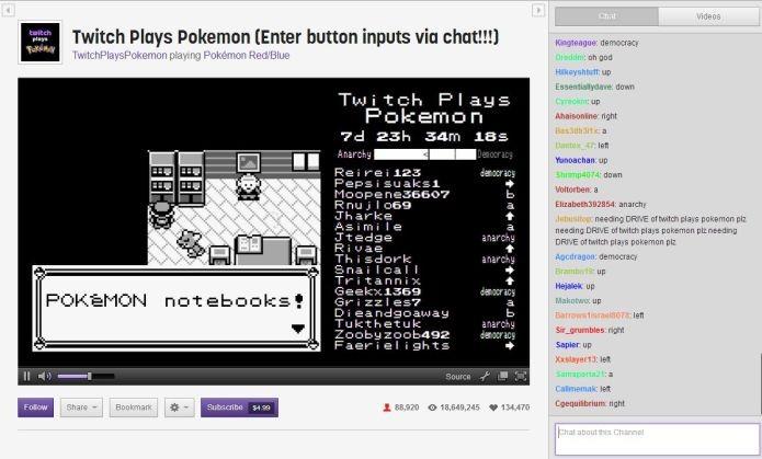 Twitch Plays Pokemon: Uma experiência coletiva que envolveu brasileiros (Foto: Reprodução)