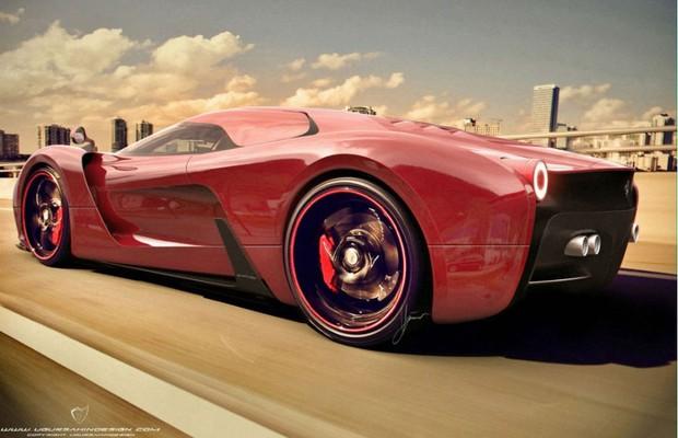 Estúdio de design holandês cria versão extrema da Ferrari 458 Italia (Foto: Divulgação)