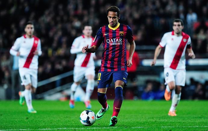 Neymar Barcelona x Rayo (Foto: AFP)