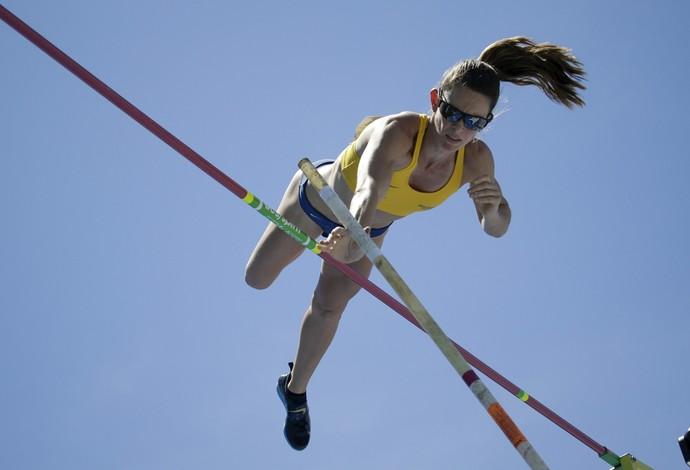 Fabiana Murer- Ouro em NY (Foto: Reuters)