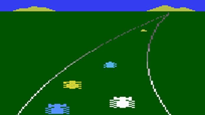 O nostálgico Enduro do Atari 2600 foi para muitos o primeiro jogo de corrida com horizonte (Foto: Reprodução/The Next Level)