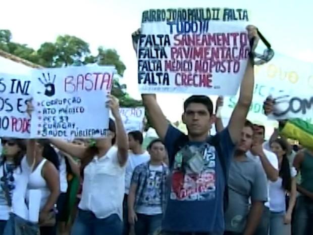 Manifestação Barreiras (Foto: Reprodução / TV Oeste)