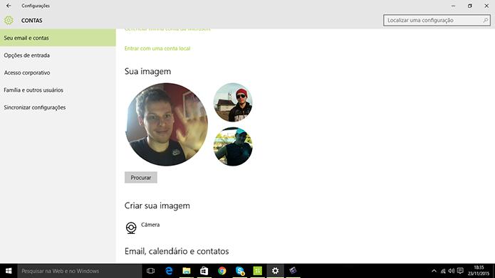 Windows 10 tela mostrará o vídeo no menu de configurações no lugar da foto da conta (Foto: Reprodução/Elson de Souza)