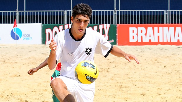 Fred Botafogo Portuguesa futebol de areia (Foto: Wander Roberto/Inovafoto)