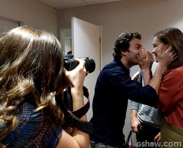 Tainá Müller clica colegas de novela em clima divertido nos bastidores do Domingão  (Foto: Domingão do Faustão/TV Globo)