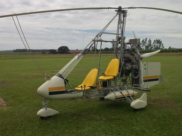 Girocóptero Subaru 1.8 foi furtado do  Aeroclube de Leme na segunda-feira (Foto: Celso José Kleinpaul / arquivo pessoal)