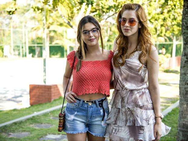 Giovanna Lancellotti e Sophia Abrahão serão as amigas Bélgica e Gaby (Foto: Raphael Dias/ TV Globo)
