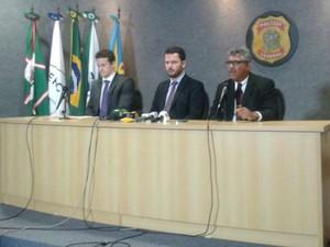 Polícia Federal e Ministério Público Federal falam sobre 10ª fase da Lava Jato (Foto: Adraina Justi/ G1)