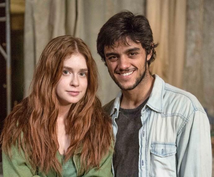 Jonatas e Eliza se conheceram em meio a perrengues (Foto: Divulgação / TV Globo)