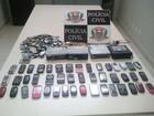 Operação apreende 45 celulares e 247 baterias telefônicas em Lucélia