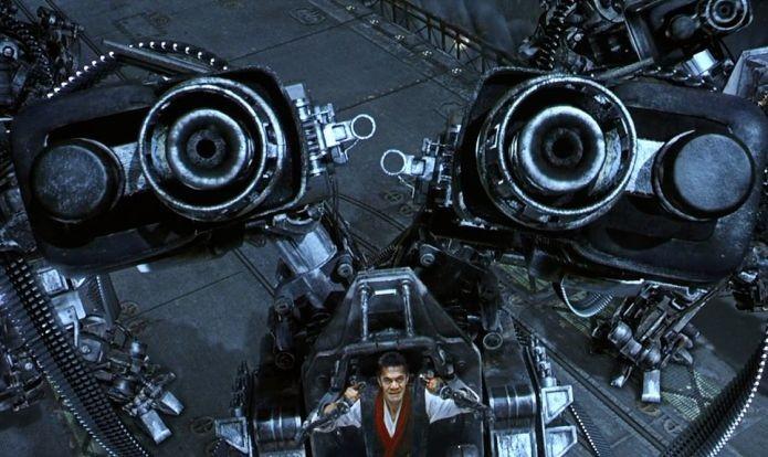 Matrix também mostrou exoesqueletos militares em seu filme (Foto: Divulgação)