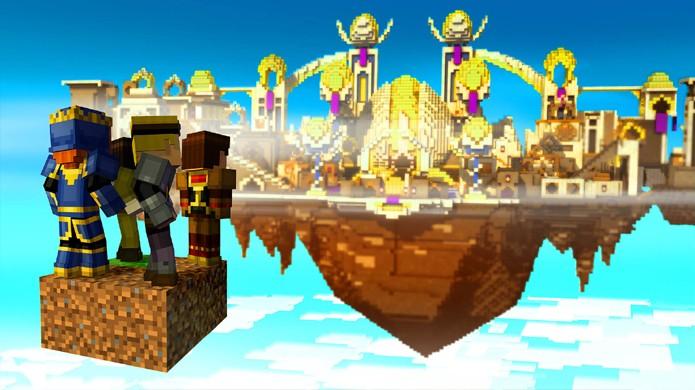 Em Olha o Pedido!, episódio 5 de Minecraft: Story Mode, jogadores se deparam com uma cultura bem diferente de Minecraft (Foto: Reprodução/Open Critic)