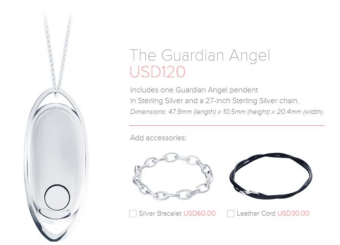 Colar está à venda no site oficial da empresa (Foto: Reprodução/The Guardian Angel)