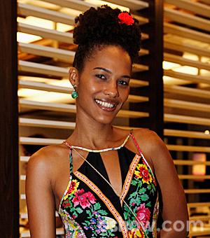 Jessica Barbosa não faz esforço para manter a boa forma (Foto: Inácio Moraes/TV Globo)