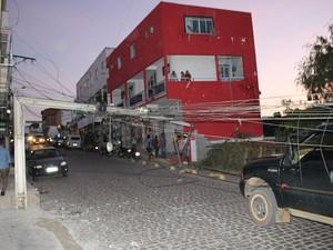 Acidente ocorreu no centro da cidade  (Foto: Blog Marcos Frahm)