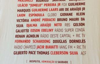 São Paulo faz camisa em homenagem a jornalistas do voo da Chapecoense