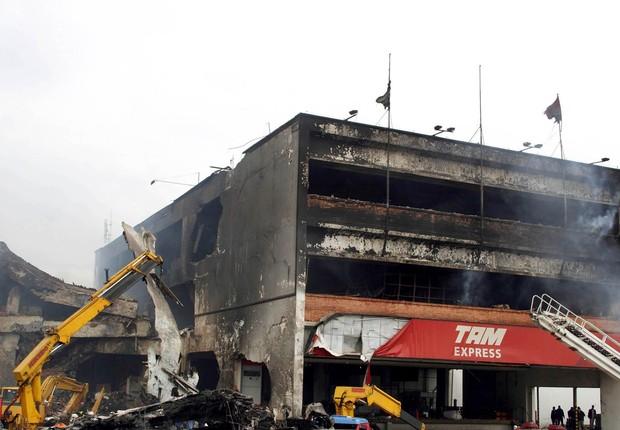 Acidente da TAM em Congonhas em 2007 (Foto: Agência Brasil)
