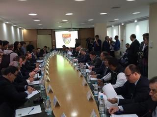 Conselho técnico da Federação Paulista (Foto: Marcelo Hazan)