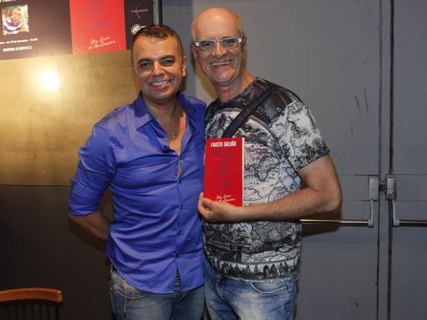 Fausto Galvão e Marcos Caruso em evento na Zona Sul do Rio (Foto: Marcos Ferreira/ Brazil News)