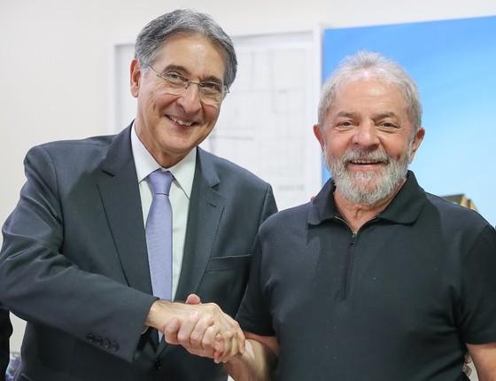 O ex-presidente Lula e o governador de MG Fernando Pimentel, no Instituto Lula (Foto: Ricardo Stuckert/ Instituto Lula)