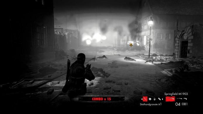 Para deixar o jogo mais macabro, você pode optar por um modo com visual Noir (Foto: Reprodução / Dario Coutinho)