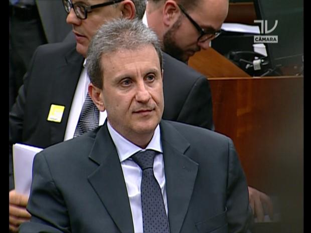 O doleiro Alberto Yousseff na CPI (Foto: Reprodução)