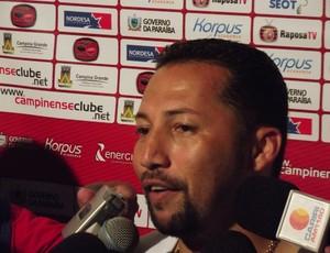 Marquinhos Marabá, atacante do Campinense (Foto: Silas Batista / globoesporte.com/pb)