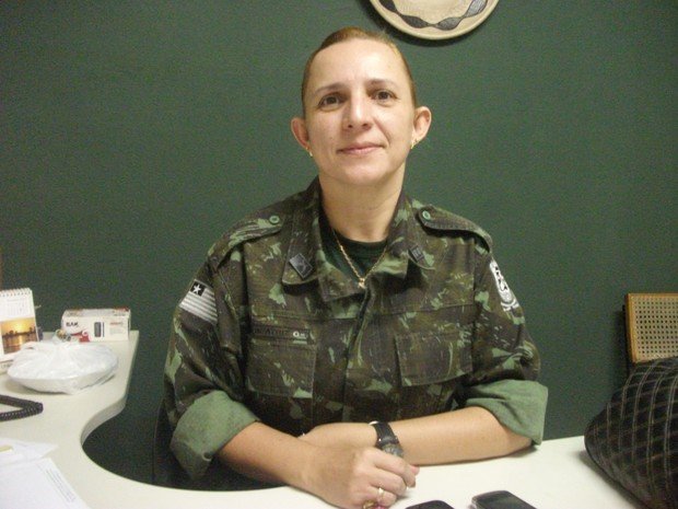 Coronel Júlia Beatriz, comandante do Batalhão de Polícia Ambiental no Piauí (Foto: Gil Oliveira/G1)