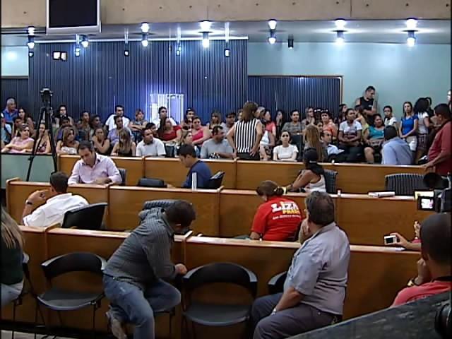 Mobilização professores Uberlândia (Foto: Reprodução/ TV Integração)