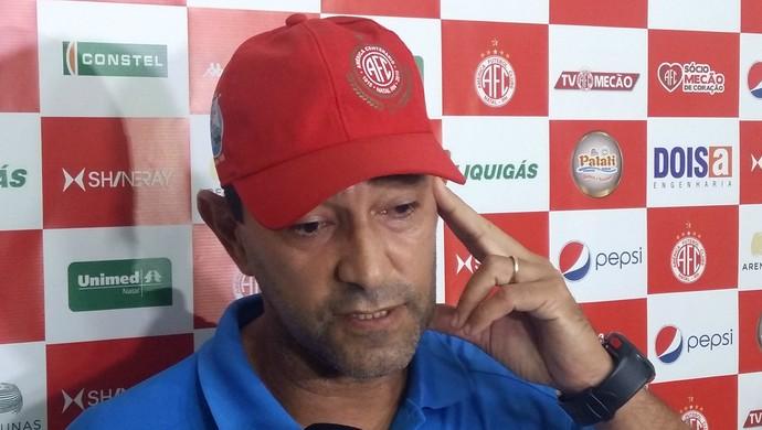 América-RN - Sérgio China, técnico (Foto: Jocaff Souza/GloboEsporte.com)