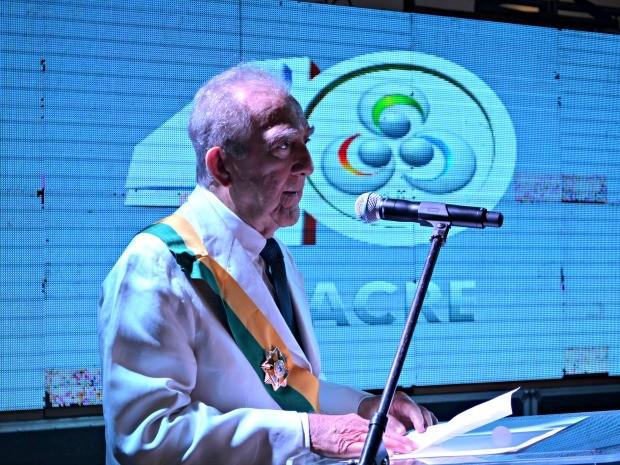 Diretor presidente da Rede Amazônica, Phelippe Dau, foi homenageado. (Foto: Veriana Ribeiro/G1)