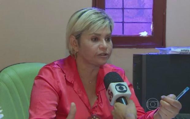 Delegada Luiza Maia deu bronca em professora suspeita de assaltos em Santana (Foto: Bom Dia Brasil)