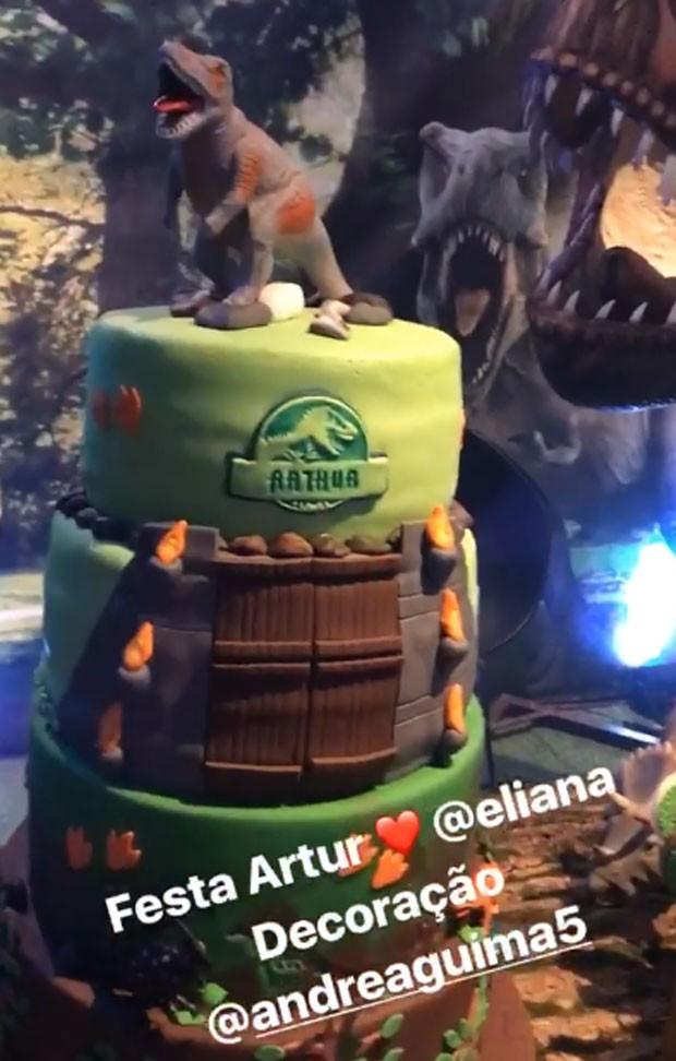 Bolo do aniversário de Arthur (Foto: Reprodução)