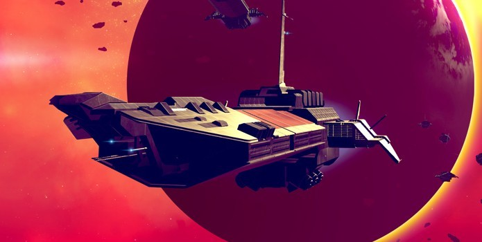 No Mans Sky: você pode destruir naves cargueiros para saquear seu conteúdo (Foto: Reprodução/Playstation)