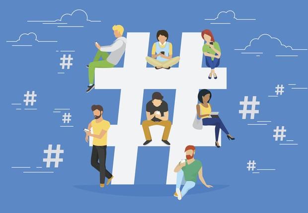 hashtag, jovens, geração y (Foto: Thinkstock)