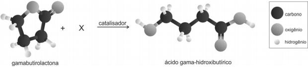 Reação do ácido (Foto: Reprodução/Fuvest)