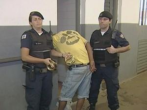 Guarda Municipal roubo ladrão cemitério Uberaba  (Foto: Reprodução/ TV Integração)