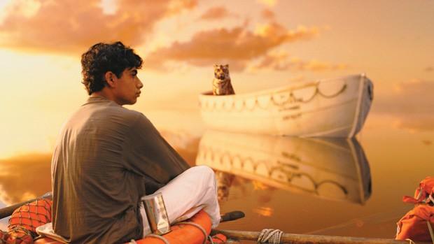 PARAÍSO ARTIFICIAL O ator Suraj Sharma em As aventuras de Pi. O visual 3D é visto como revolucionário (Foto: divulgação)