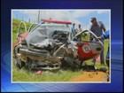 Policiais militares ficam feridos após acidente em Espírito Santo do Turvo