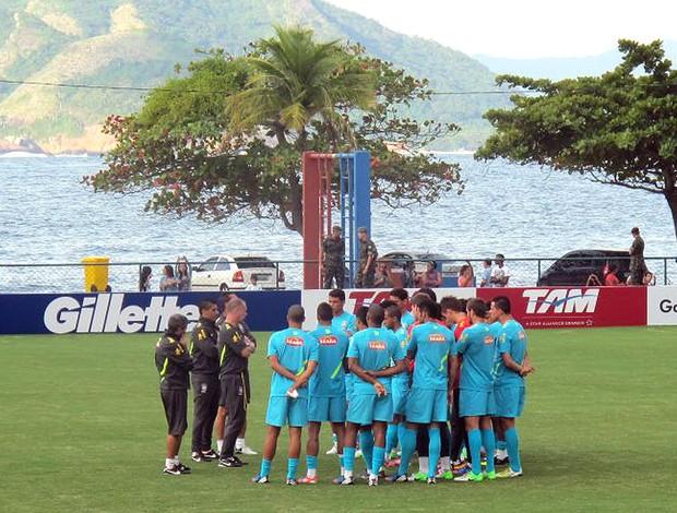 Treino da Seleção brasileira (Foto: Leandro Canônico / Globoesporte.com)