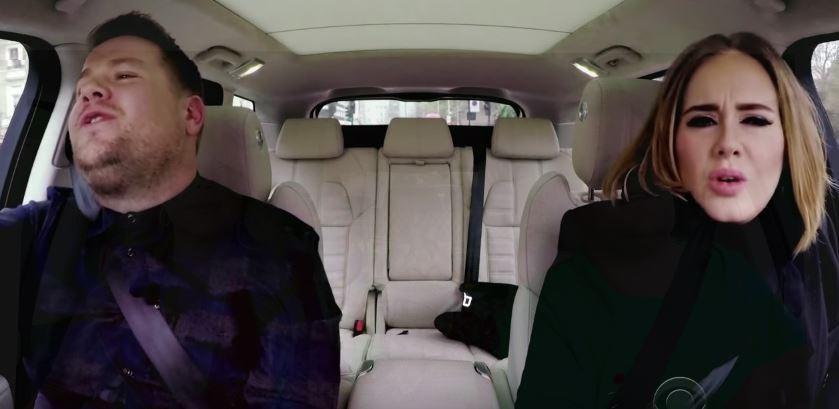 James Corden e Adele (Foto: Reprodução)