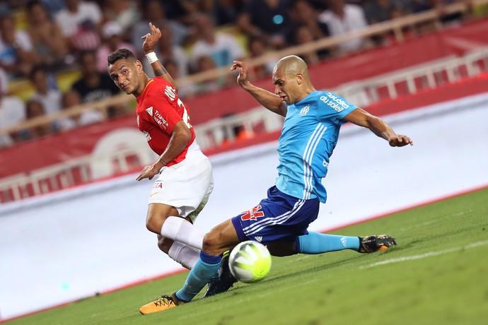 Doria Rony Lopes Monaco Olympique Marseille (Foto: Valery Hache / AFP)