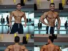 Felipe Franco exibe músculos saltados e cintura finíssima em fotos