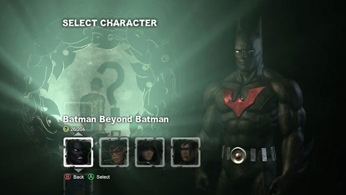 Batman Arkham City: veja como usar roupas alternativas no game  (Foto: Reprodução/Bernardo Dabul)