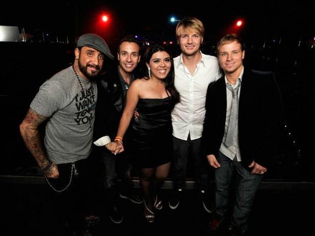Fabíola Abbes viajou para cruzeiro onde conheceu os Backstreet Boys (Foto: Arquivo Pessoal)