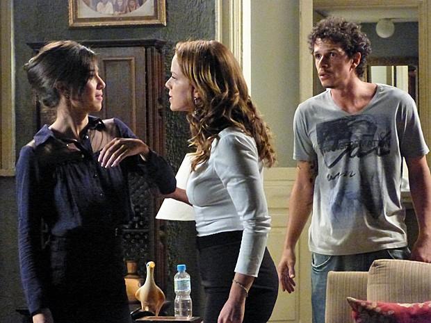 Cristina defende a mãe Eliane (Foto: Gshow)